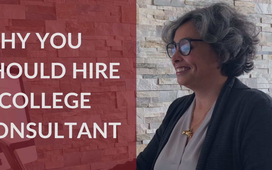 Why is it a good idea to hire a professional college consultant?